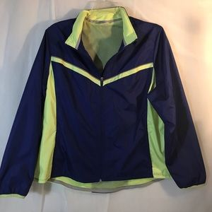 Danskin Now Blue/ Lt. Green Windbreaker Jacket.
